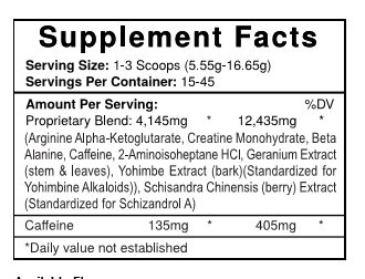 Halodrol Supplement Facts